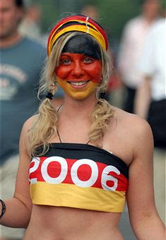 Germany body paint soccer girls